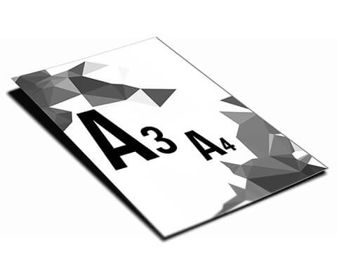 A4 / A3 alb negru