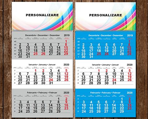 Calendare triptice |  PRINTCENTER - Tipar digital, offset, indoor, outdoor