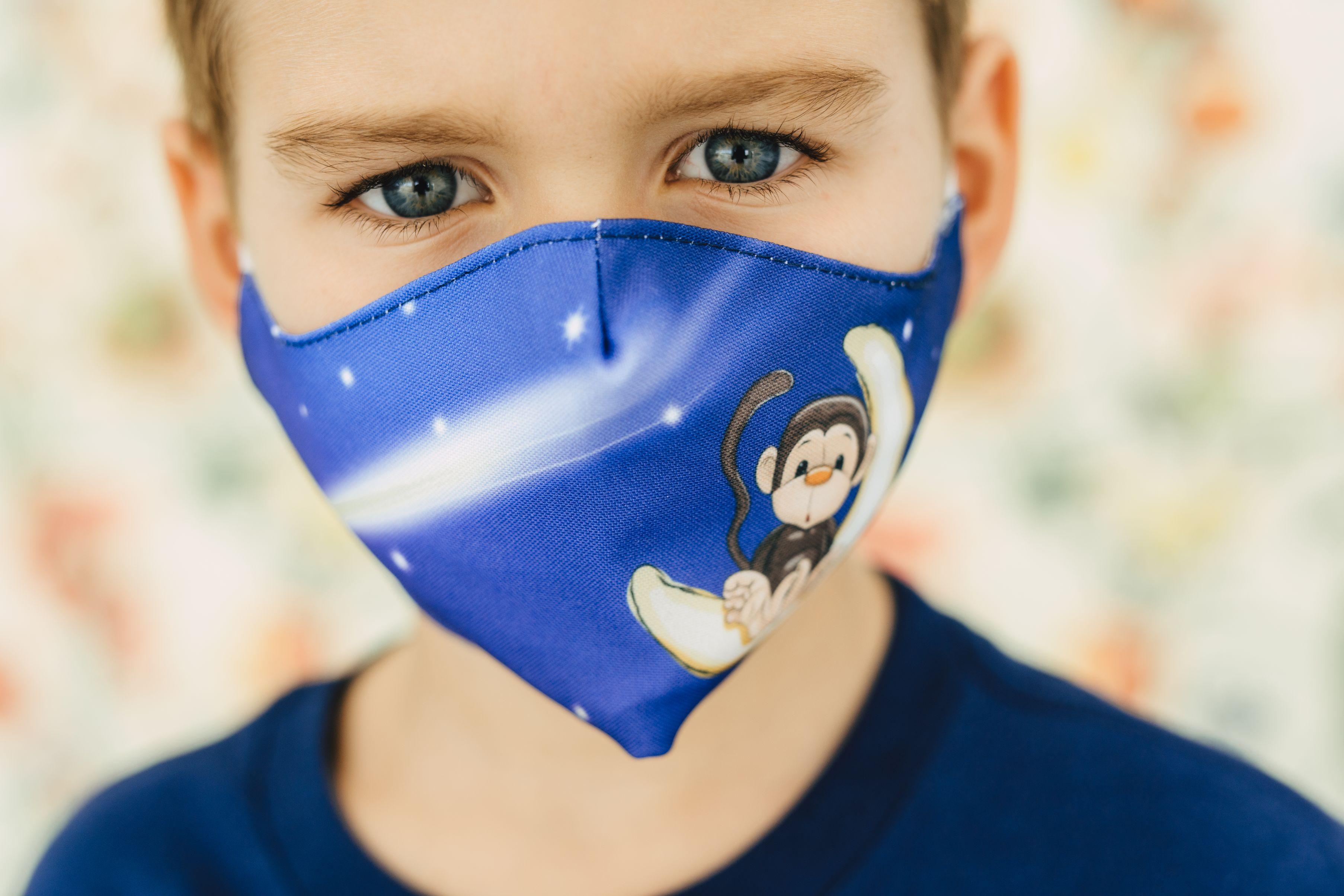Mască copii MONKEY - 29 LEI |  PRINTCENTER - Tipar digital, offset, indoor, outdoor