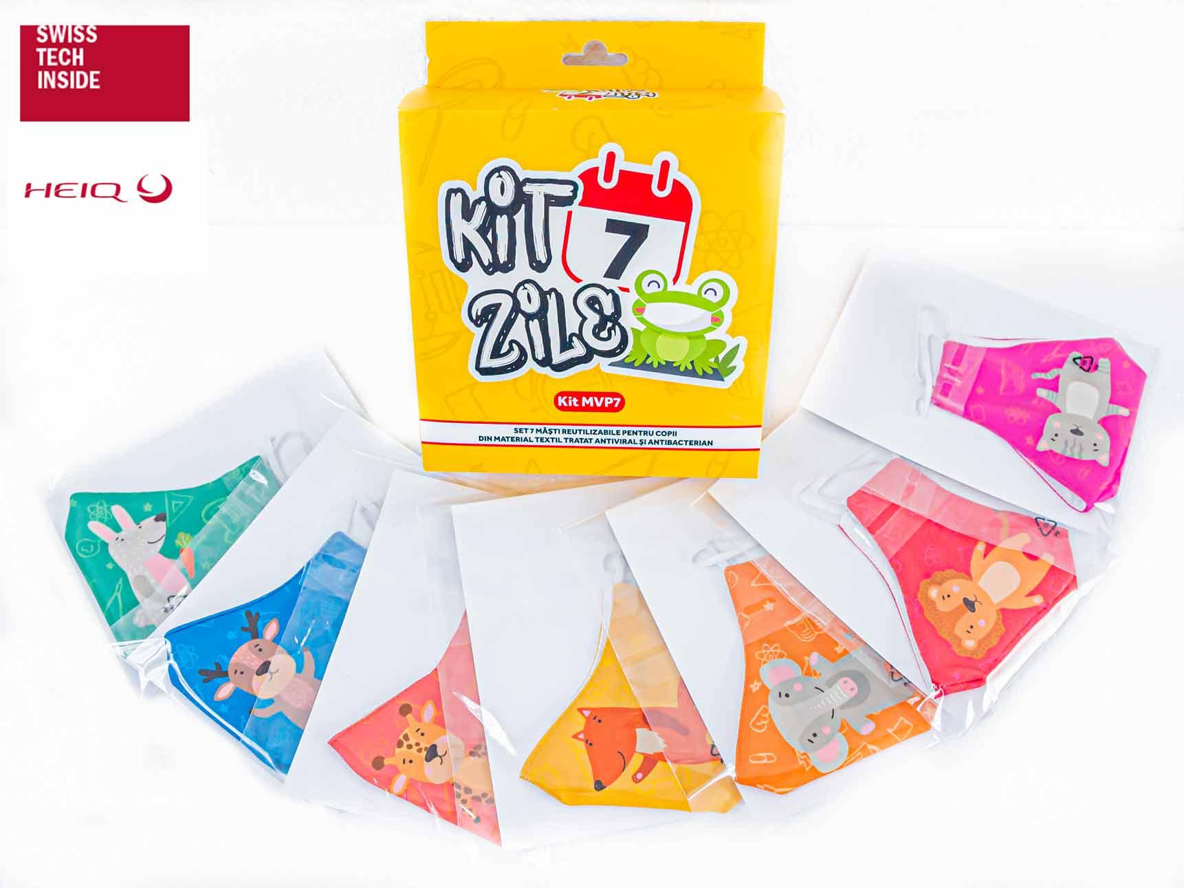 Kit 7 Zile Măști pentru copii - 134.99 LEI |  PRINTCENTER - Tipar digital, offset, indoor, outdoor