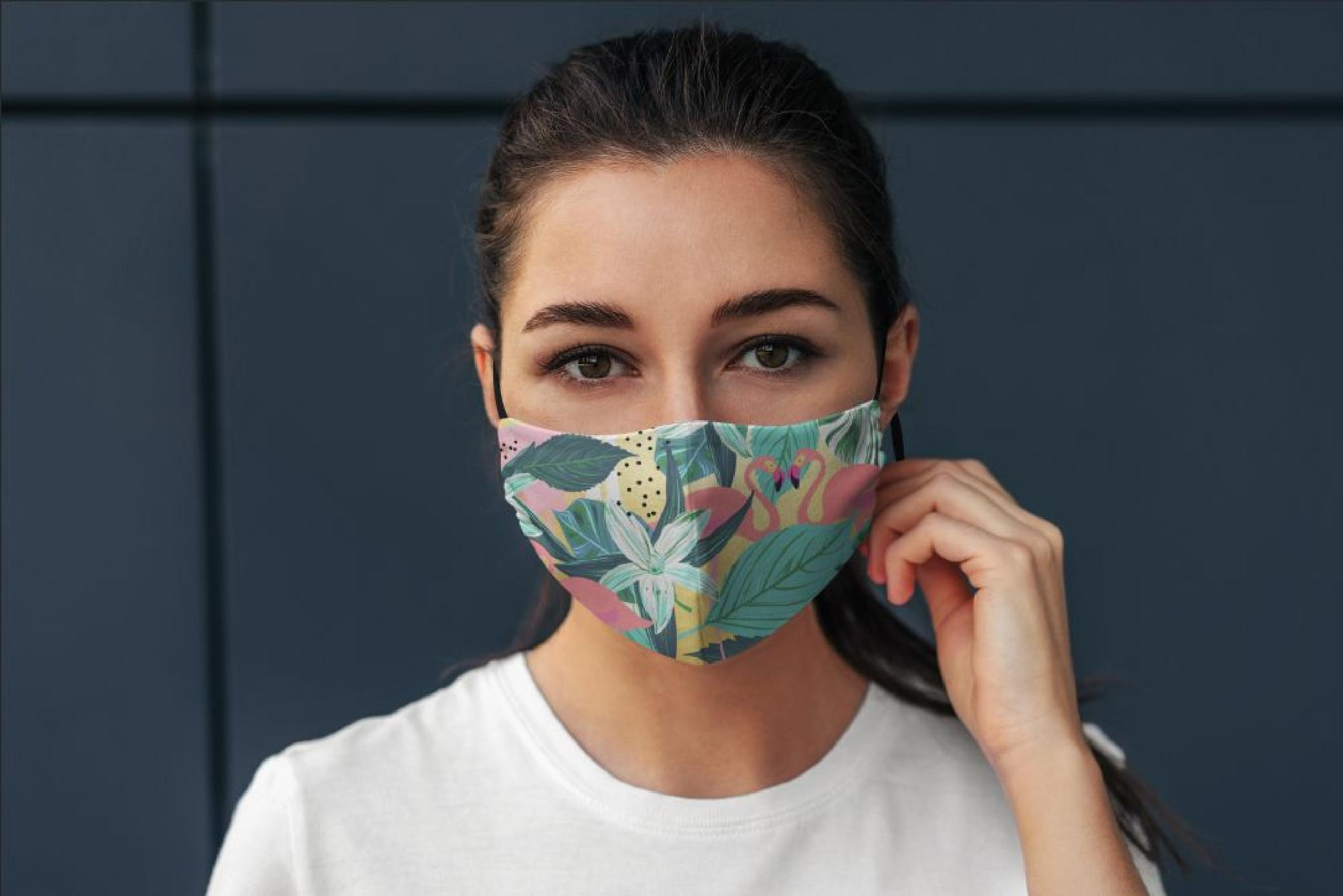Mască Flamingo - 29 LEI |  PRINTCENTER - Tipar digital, offset, indoor, outdoor