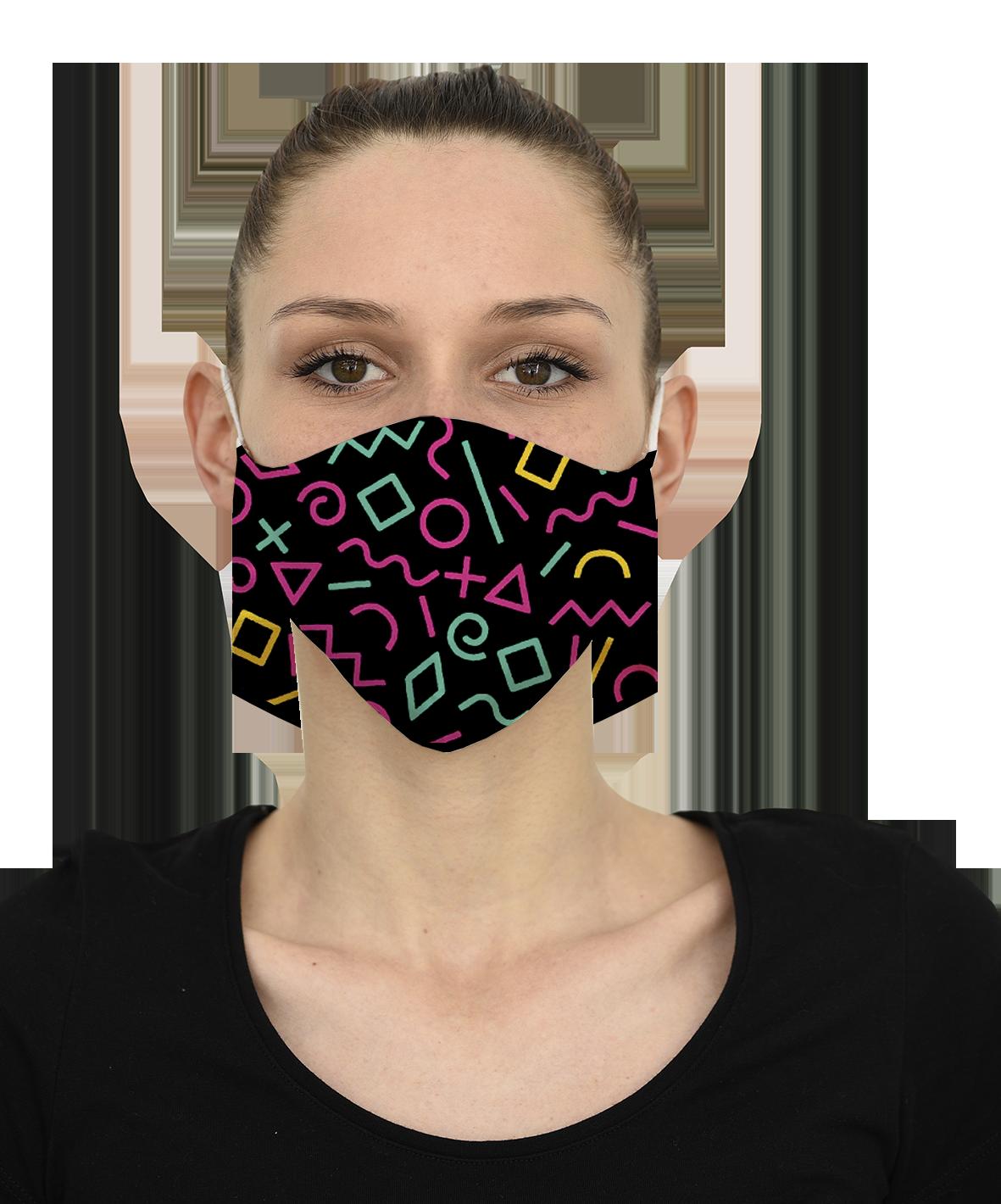 Mască SYNTHWAVE - 29 LEI |  PRINTCENTER - Tipar digital, offset, indoor, outdoor