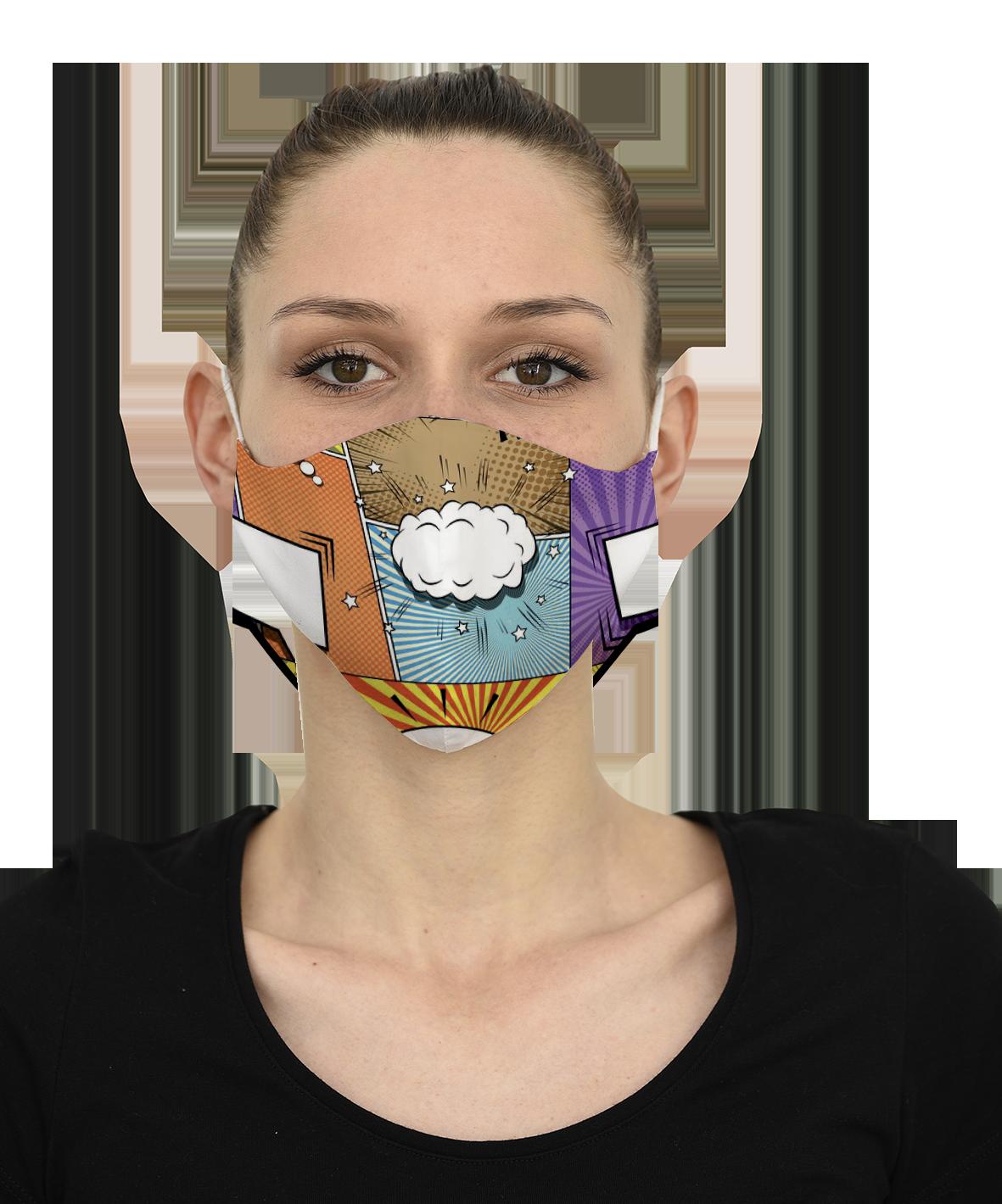 Mască COMICS - 29 LEI |  PRINTCENTER - Tipar digital, offset, indoor, outdoor