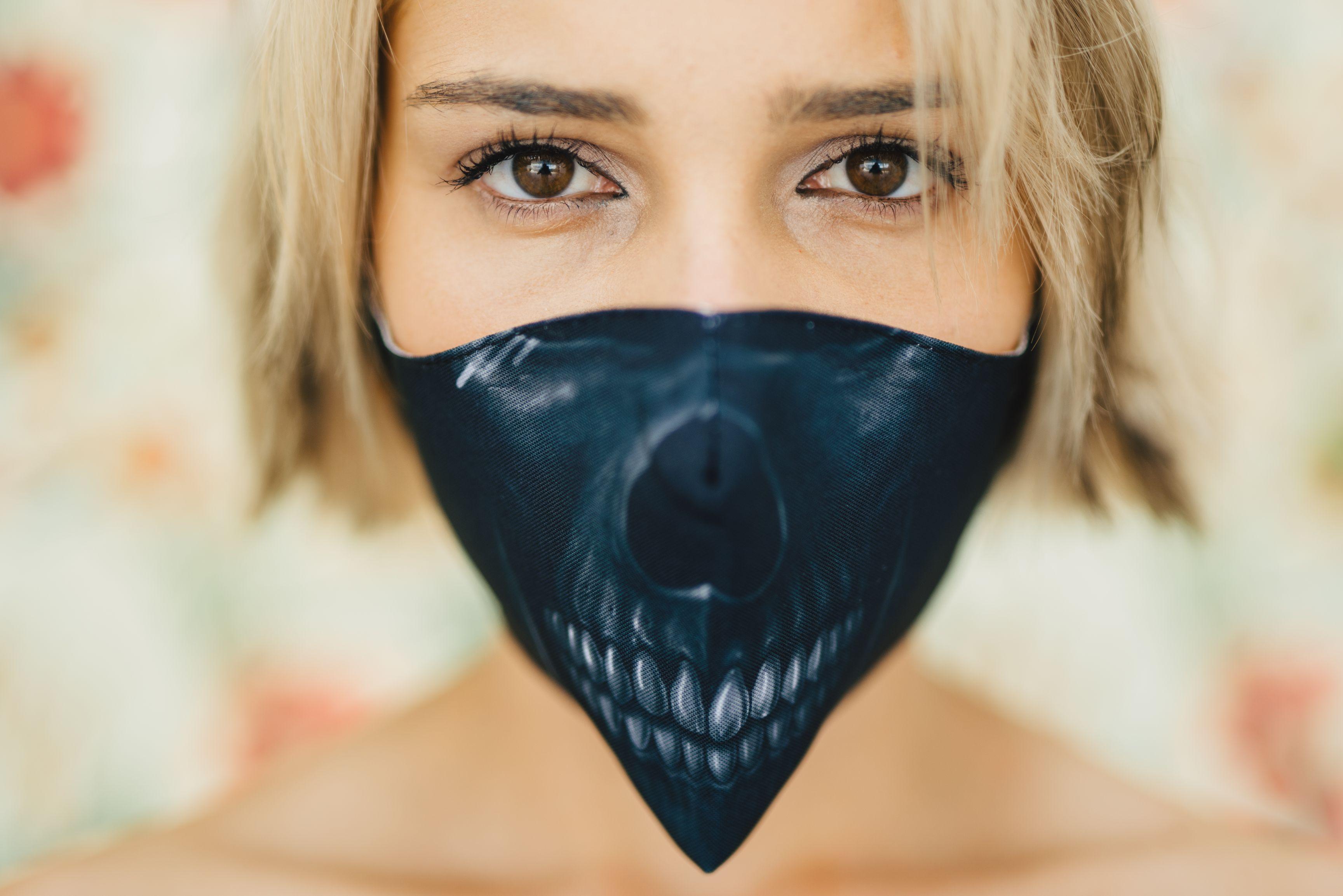 Mască Black Skull - 29 LEI |  PRINTCENTER - Tipar digital, offset, indoor, outdoor