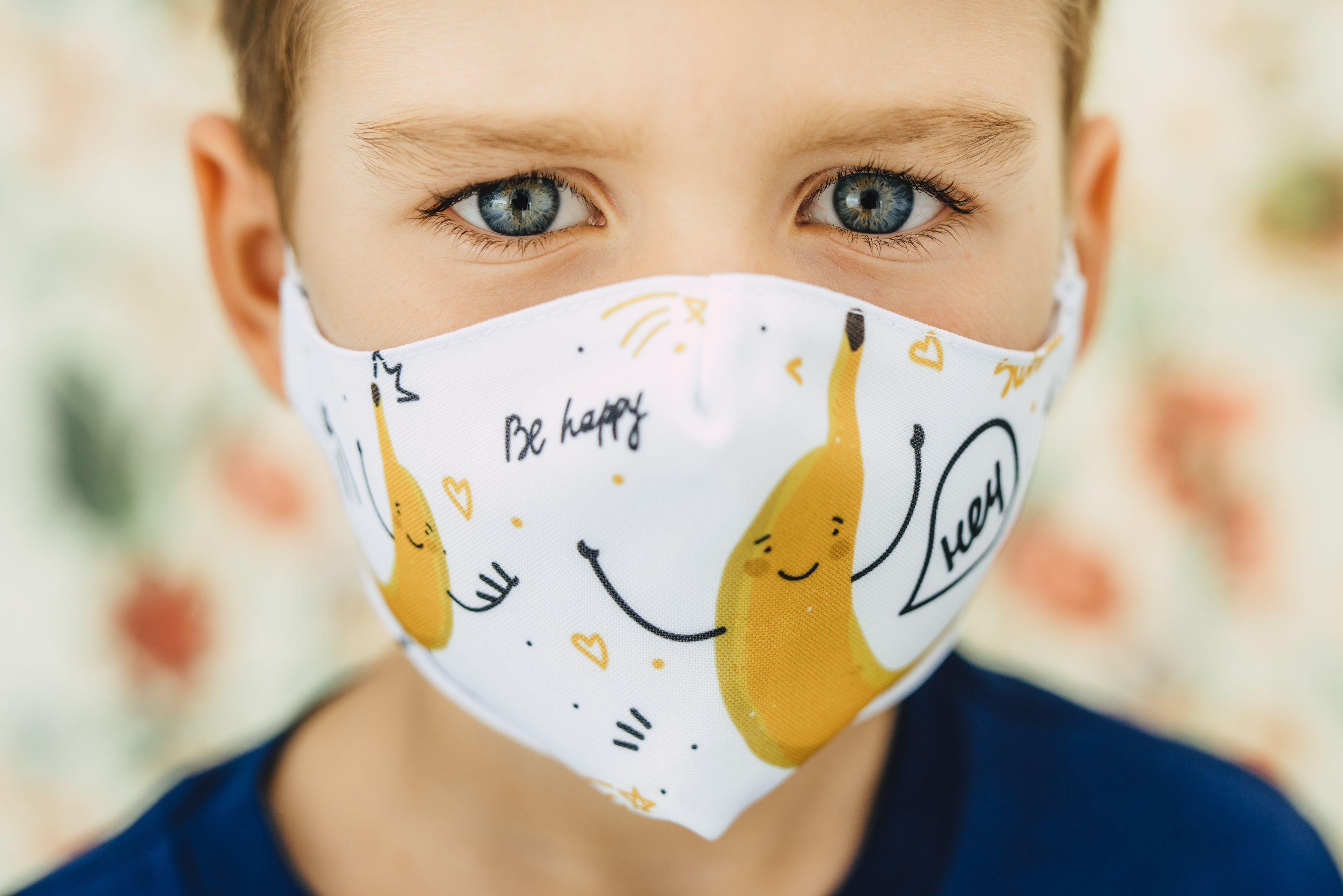 Mască copii BANANA - 29 LEI |  PRINTCENTER - Tipar digital, offset, indoor, outdoor